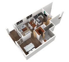One bedroom floorplan Boca Raton Courtside Villas