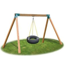 Eastern Jungle Gym Classic Cedar Tire Swing Set