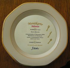 10x Menükarten Hochzeit / Kommunion von Bastelkoenigin-de auf DaWanda.com