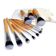 Cheap cosmetic case with brush holder, Buy Quality cosmetic package directly from China cosmetic makeup bag Suppliers: New Professional 11 pcs/set  Makeup Brush Set Cosmetics Foundation Blending blush Makeup Rea Bold Wood Techniqu Collecti