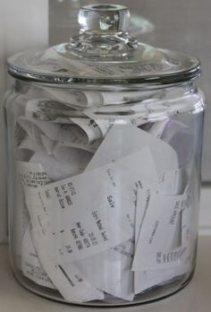 Home Office Organizing Ideas - Simple Storage Idea for Receipts