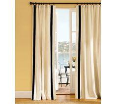 ribbon embellished curtain