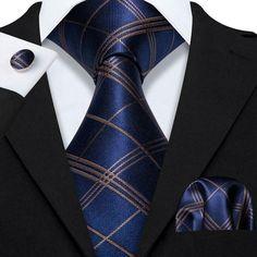 Gold Stripes, Yellow Stripes, Blue Yellow, Pocket Square Size, Men Formal, Formal Wear, Mens Silk Ties, Cufflink Set, Tie Dye Outfits