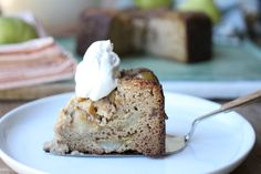 This cake is a favourite in our house. The texture and flavour provided by  the pear is delicious and the recipe, as always, is a simple one! I hope  you get a chance to enjoy this cake. You could always substitute apple or  banana for the pear as well if that's what you have on hand x Ash  PE