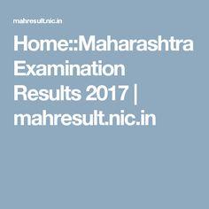 Home::Maharashtra Examination Results 2017 | mahresult.nic.in