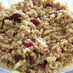 Balsamic Brown Rice Salad Allrecipes.com