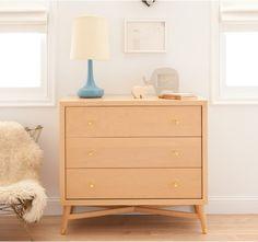 natural dresser: gold drawer pulls  #stylesquared