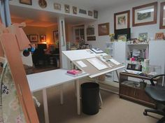 Carole Pivarnik's studio and more 44 Stunning Art Studios That Will Inspire You To Get Back To Work