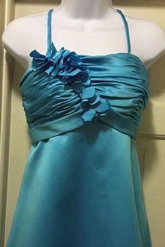 Mary's Bridal 🦋Turquoise Knee Length ,Empire Waist Formal/Social,Prom Dress, 4  | eBay