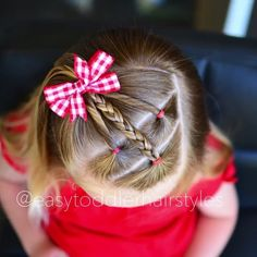 "1,370 Likes, 87 Comments - Tiffany ❤️ Hair For Toddlers (@easytoddlerhairstyles) on Instagram: ""Connected ponies with the other ponytail pulled through it and into curly pigtails. Inspiration…"""