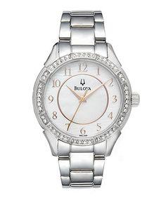 Bulova Watch, Women's Stainless Steel Bracelet 33mm 96L146 - Women's Watches - Jewelry & Watches - Macy's