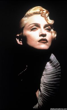 Madonna on the set of a Vogue video - all about Madonna
