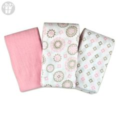 SwaddleMe Muslin Swaddle Blankets 3-PK, Floral Medallion (OS) (*Amazon Partner-Link)