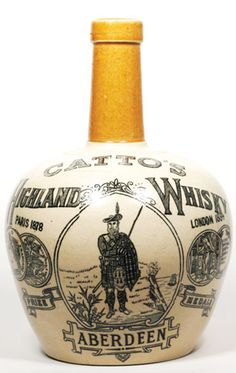 WB100, 210mm tall, 2 tone stoneware Whisky Jug, no handle, Catto's Highland Whisky Aberdeen, medals for Paris 1878 & London… / MAD on Collections - Browse and find over 10,000 categories of collectables from around the world - antiques, stamps, coins, memorabilia, art, bottles, jewellery, furniture, medals, toys and more at madoncollections.com. Free to view - Free to Register - Visit today. #Whisky #Collectables #MADonCollections #MADonC