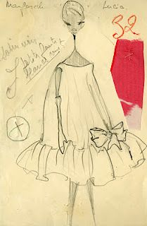 Balenciaga Atelier Sketch, Summer Collection 1958, Passage N°32. The Browns Blog, 31 January 2012.