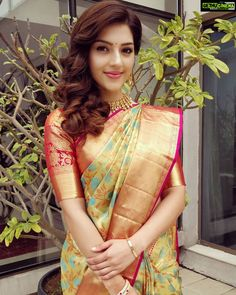 Stylish yellow colored latest silk saree with blouse piece - ds Beautiful Girl Indian, Most Beautiful Indian Actress, Beautiful Saree, Gorgeous Lady, Pattu Saree Blouse Designs, Saree Blouse Patterns, Mode Bollywood, Bollywood Fashion, Latest Silk Sarees