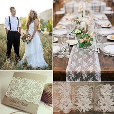 Vintage Spitze Hochzeit Tischdekoration Brautpaare Hochzeitsfotograf Einladungskarten Großartige Vintage Hochzeit mit dekorierten Federn, Quasten und Spitzen