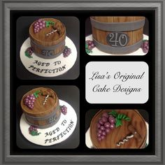 """""""Aged To Perfection"""" birthday cake - Cake by LOCD"""