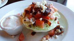 Wedge salad at Franklin's Cove, for those watching their waist line, order dressing on the side.