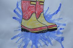 Stampen in de regen knutselen Summer Crafts, Fall Crafts, Crafts For Kids, Boys And Girls Club, Boy Or Girl, Funky Wellies, Spring Design, Drawing For Kids, Marie