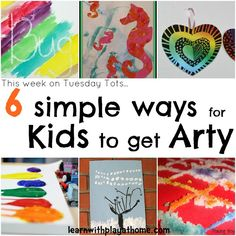 Learn with Play at home: 6 Simple ways for Kids to get Arty