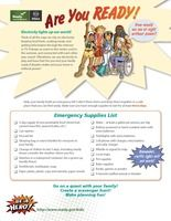 FEMA has a Emergency Supply Kit Checklists for Parents and Kids-Ready Kids (English & Spanish)- WOLF Elective 16