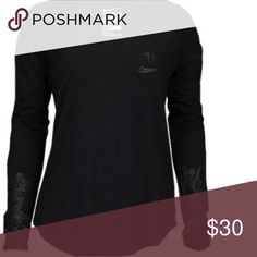 Nike Graphic Rostarr Long Sleeve Running Top Med Nike Graphic Rostarr long sleeve running too. Size medium. New with tags.  Style 804854-010.  It is black with graphics on the end of the arm sleeves.  B1 Nike Tops Tees - Long Sleeve