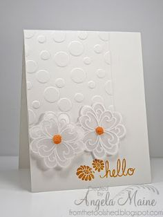 Vellum flowers - hello