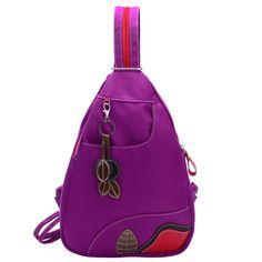 2017 New Designer Fashion Women Nylon Shoulder Bags Diagonal Portable Multi Functional Tassel Chest