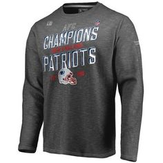 Men s New England Patriots NFL Pro Line by Fanatics Branded Navy 2017 AFC  Champions Cover 2 Roster T-Shirt 6b5df3106