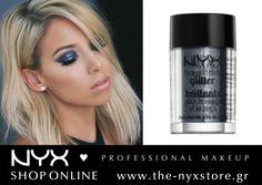 Make-up inspiration! Δώστε λάμψη στο μακιγιάζ σας με τα νέα NYX Face & Body Glitter!  Ανακαλύψτε την απόχρωση Gunmetal της φωτογραφίας καθώς και τις υπόλοιπες έντεκα στο e-shop μας: http://bit.ly/1WOp7Vy