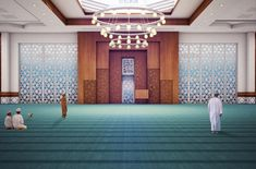 Al Hail Green Mosque – Yaghmour Architects Mosque Architecture, Interior Architecture, Facade Design, Exterior Design, Islamic Decor, Interior Design Boards, Beautiful Mosques, Islamic Wallpaper, Prayer Room