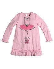 Girls 2 to 6 Sweet Ballerina Nightgown