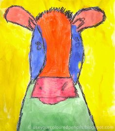 Step-by-step, simple shape cow portraits done by Grade 1s. Could you use it as a shape lesson? INquiry into non-regular shapes.