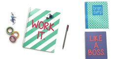 """Get to work with this series of fun, fresh and colorful notebooks by Paper + Spark. These motivating notebooks are the perfect place to jot your notes and tackle  your to-dos. The quirky text and bold colors add cheer to your desktop and make them great stocking  stuffers. Who doesn't love the feeling of opening a crisp, clean new  notebook full of promise?~ Our """"Brain Dump"""" notebook is great for those days when your brain feels overwhelmed. It's your  go-to place to hash out your…"""