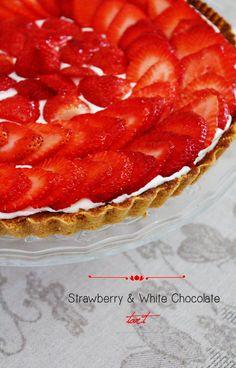 Strawberry and White Chocolate Tart #chefmalhadinho