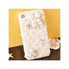 Pearls Flowers iPhone 4S Case | ShopLocket via Polyvore