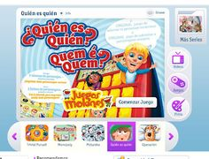 Fun online game in Spanish for launching a study on describing words or characterization