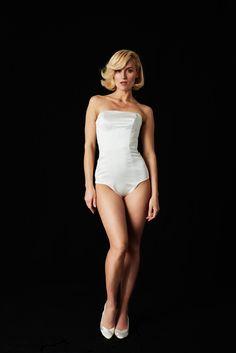 EMANUEL HENDRIK | MIX & MATCH 2.0 - 2018 | FRONT | BODY SUIT | JULIA | made in Düsseldorf - Germany | IVORY - DUCHESSE |  Duchesse Strapless Body Suit in ivory | Wedding - Destination - Beach - Festival - Wild - Party - Sparkle - Boho - Vintage - Barn - Glamour - Hollywood | Wedding Dress | Fashion - Bridal Couture