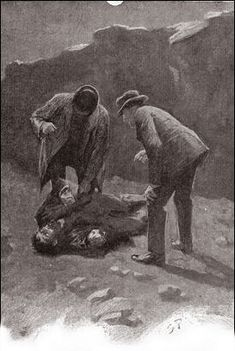 The Hound of the Baskervilles  Chapter XII Death on the Moor SIDNEY PAGET The Strand Magazine, February 1902 'IT WAS THE FACE OF SELDEN, THE CRIMINAL.'