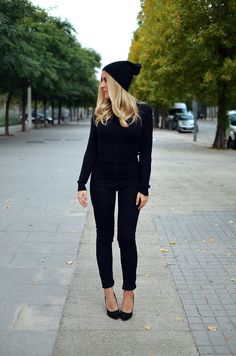 #black #beanie #stilettos #blonde #long #hair #autumn #winter #outfit #look #inspiration #chic #street #style #fashionblogger #ootd #wiwt #wiw #whatiwore #whatiworetoday #outfit #outfitoftheday #lookoftheday #ladymandala