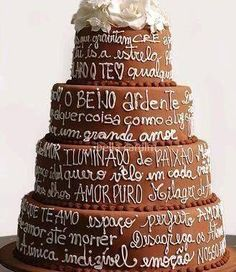 what is bolo cake Pretty Cakes, Beautiful Cakes, Amazing Cakes, Unique Wedding Cakes, Wedding Cake Designs, Cake Wedding, Chocolate Brownie Cake, Naked Cakes, Bolo Cake
