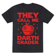 If you use the dark side to help you get through grading papers you may be the sith lord otherwise known as Darth Grader. Show off your nerdy educator status in this funny nerd design. Perfect for nerdy teachers all over the galaxy. Teaching Shirts, Teaching Humor, Star Wars Classroom, Teacher Memes, Funny Teachers, Funny Teacher Gifts, Math Memes, Teacher Style, Teacher Outfits