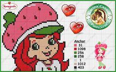 Strawberry Shortcake Cross Stitch Patterns   Strawberry Shortcake perler bead pattern by Carina Cassol