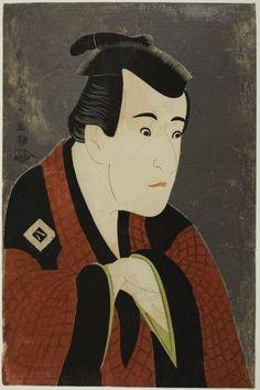 Toshusai Sharaku  Japanese, fl. 1794-1795    The Actor Ichikawa Yaozô III as Tanabe Bunzô, 1794    Color woodblock print; oban.  The Art Institute of Chicago