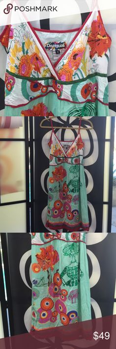 Desigual dress, 100% Viscose! made in India Size 36, side zipper, 100% Viscose, built in slip, same material. EUC , no signs of wear, ***BUNDLE ME WITH ONE OR MORE ITEMS FOR my 20% off discount !🎉🎉🎉 Desigual Dresses