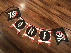 Pirate Theme, First Birthday Banners, 1st Birthday Parties, Birthday Ideas, Pirate Party Decorations, Birthday Highchair, Pirate Birthday, High Chair Banner