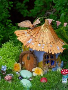 Popsicle Stick Roof Cottage