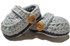 Crochet+baby+booties+baby+boy+booties+Blue+crib+shoes+by+2kute,+$20.00