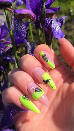 Violet Pastel, Nail Room, Summer Acrylic Nails, Stylish Nails, Green Nails, Cute Nail Designs, Perfect Nails, Nail Arts, Nails Inspiration